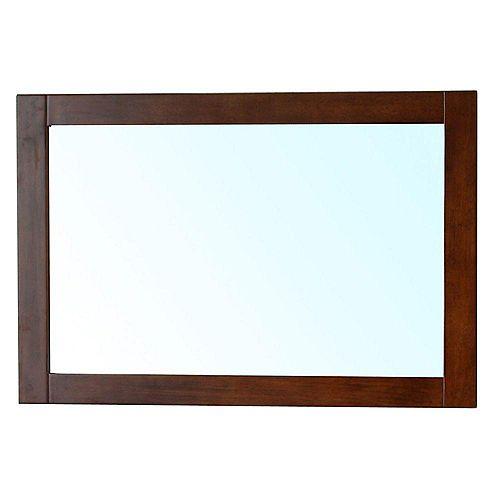 Cork Miroir en bois noyer moyen de36 po