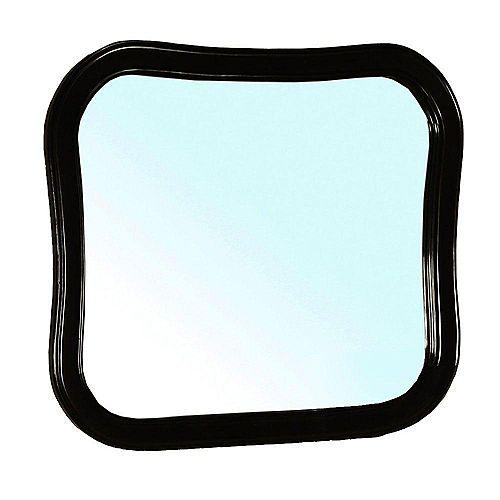 Bellaterra Swindon Miroir en bois noir de 35 po