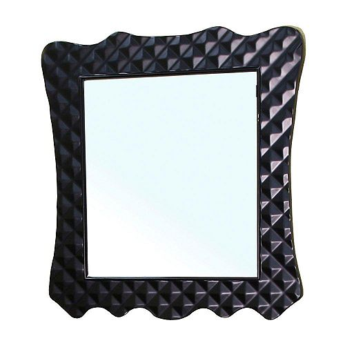 Bellaterra Veneto Miroir en bois noir de 32 po