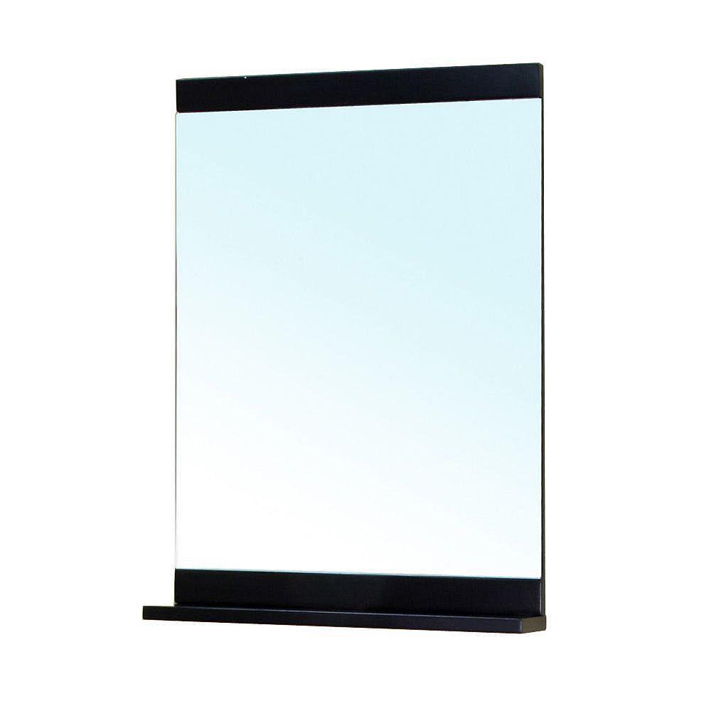 Bellaterra Twain 32 In. L X 22 In. W Wall Mirror Cabinet in Black