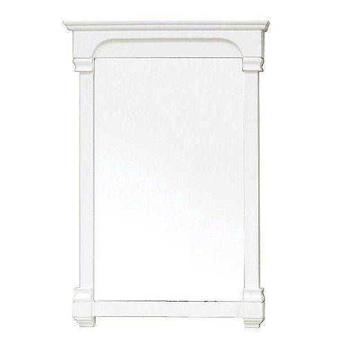 Bellaterra Harmon Miroir en bois blanc crème de 24 po