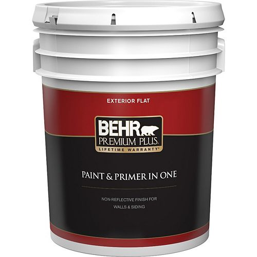 Peinture & apprêt en un - Extérieur mat - Base foncée, 18,9 L