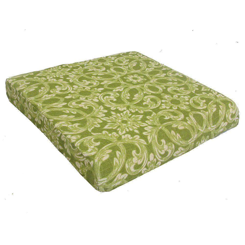 Bozanto Inc Outdoor Seat Cushion In Green The Home Depot Canada