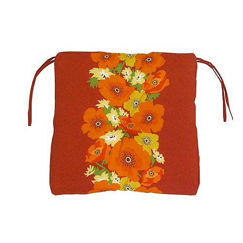 Outdoor Seat Cushion in Red