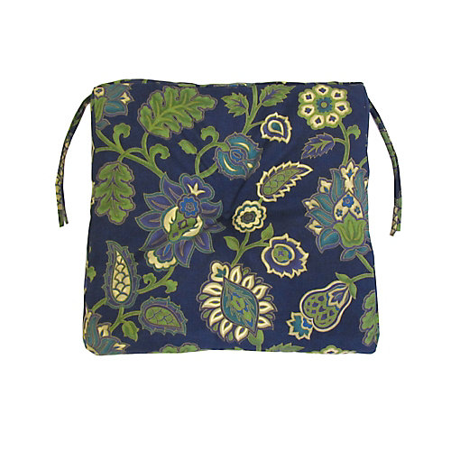 Outdoor Seat Cushion in Navy Blue