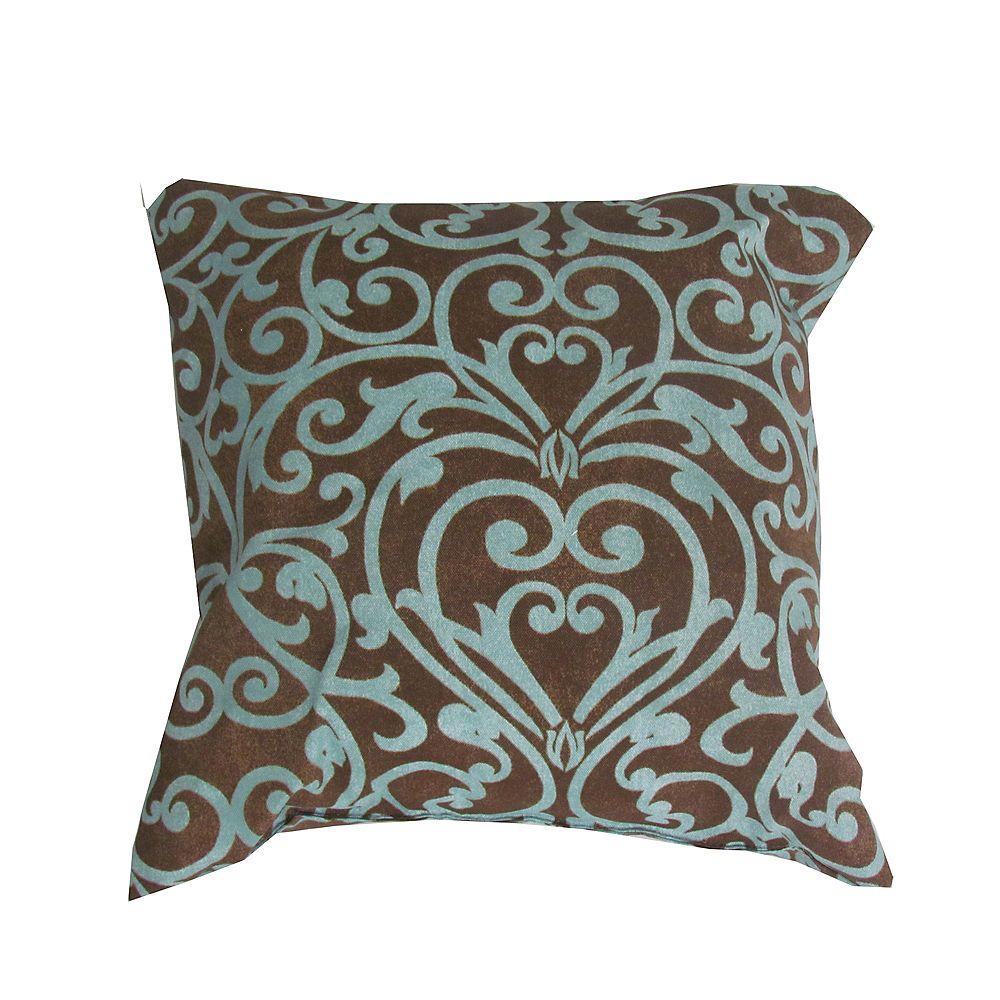 Bozanto Inc. Outdoor Conversation Chair Toss Cushion in Geometric Pattern