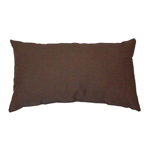 Bozanto Inc. Outdoor Conversation Chair Toss Cushion in Brown