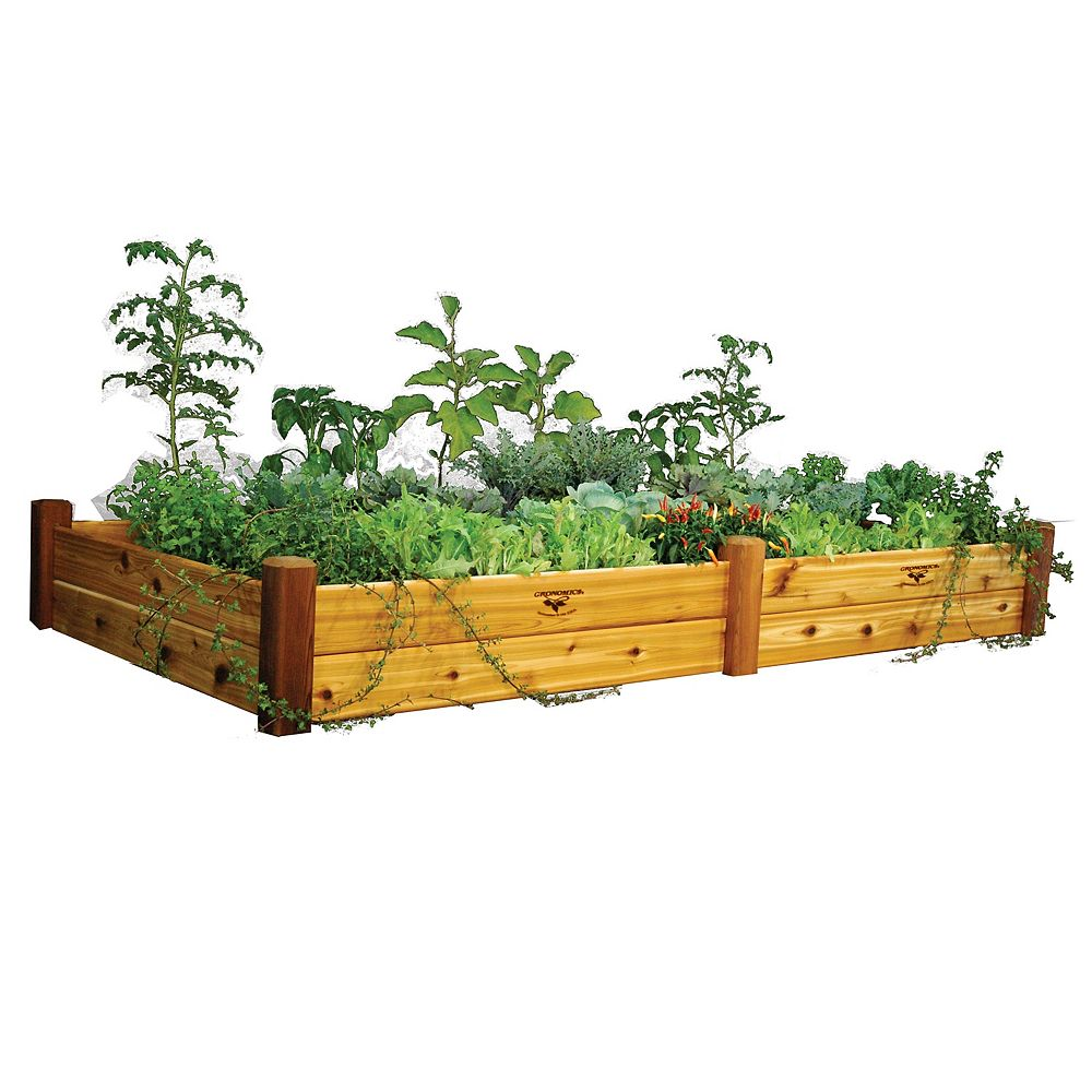 Gronomics 48-inch x 95-inch x 13-inch Raised Garden Bed with Food Safe Finish