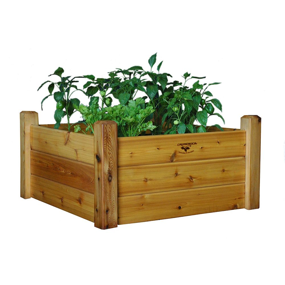 Gronomics 34-inch x 34-inch x 19-inch Raised Garden Bed with Food Safe Finish