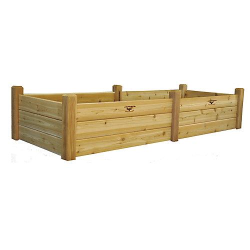 34-inch x 95-inch x 19-inch Raised Garden Bed