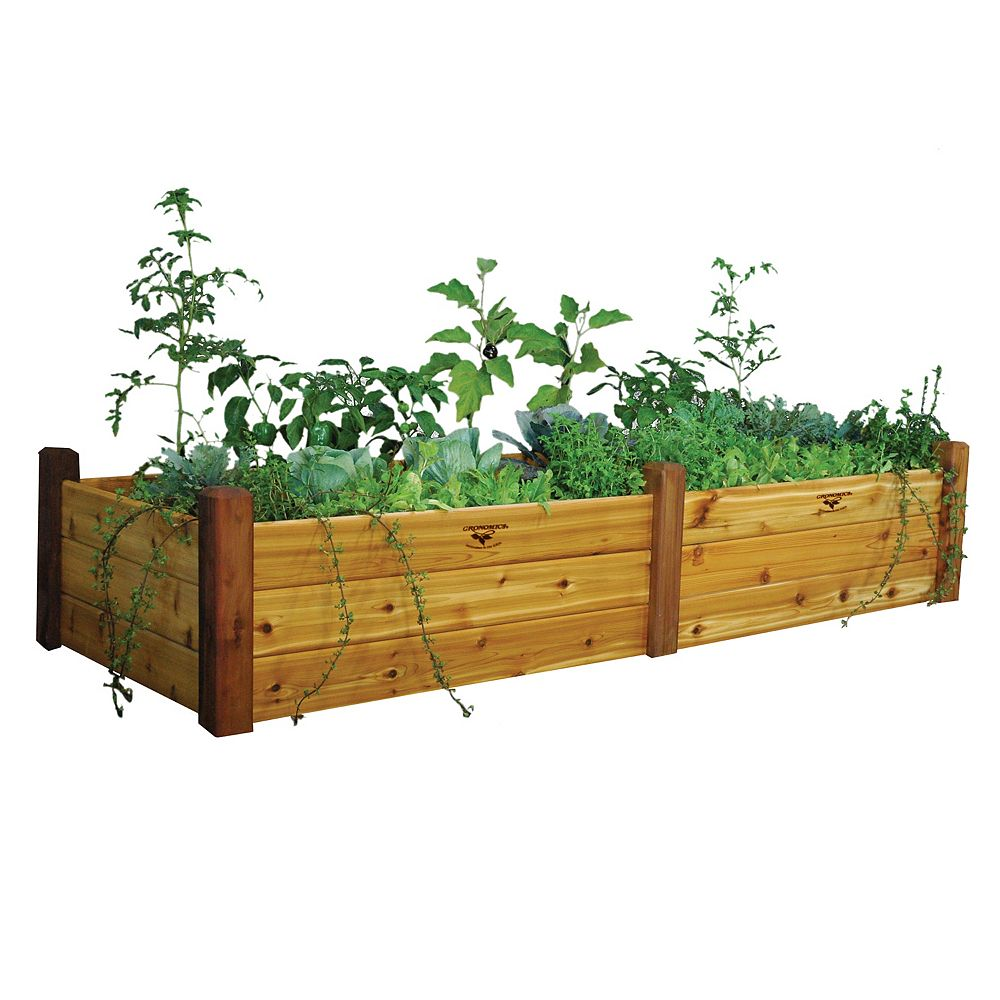 Gronomics 34-inch x 95-inch x 19-inch Raised Garden Bed with Food Safe Finish