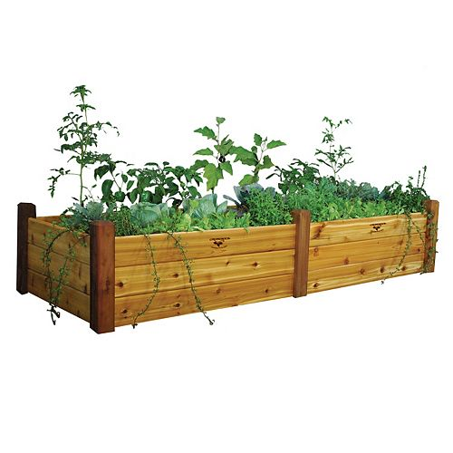 34-inch x 95-inch x 19-inch Raised Garden Bed with Food Safe Finish