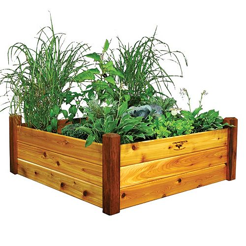 Gronomics 48-inch x 48-inch x 19-inch Raised Garden Bed with Food Safe Finish