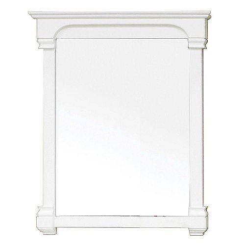 Bellaterra Westwind Miroir en bois blanc de 36 po