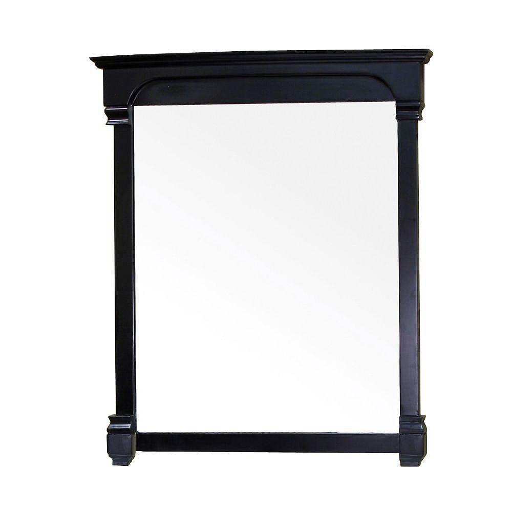 Bellaterra Marvin 42 In. L X 42 In. W Solid Wood Frame Wall Mirror in Espresso