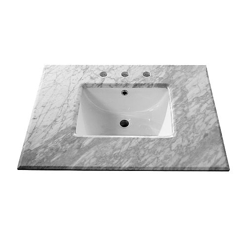 29-Inch W Single Sink Vanity Cabinet Only in White