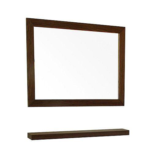 Norwoodville Mirror en bois noyer foncé de 32 po