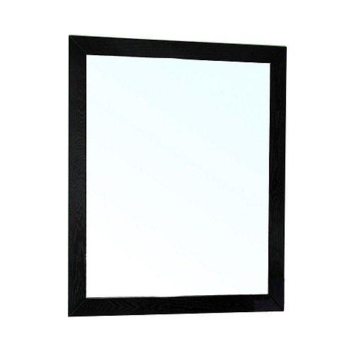 Lovington Miroir en bois noir de 26 po
