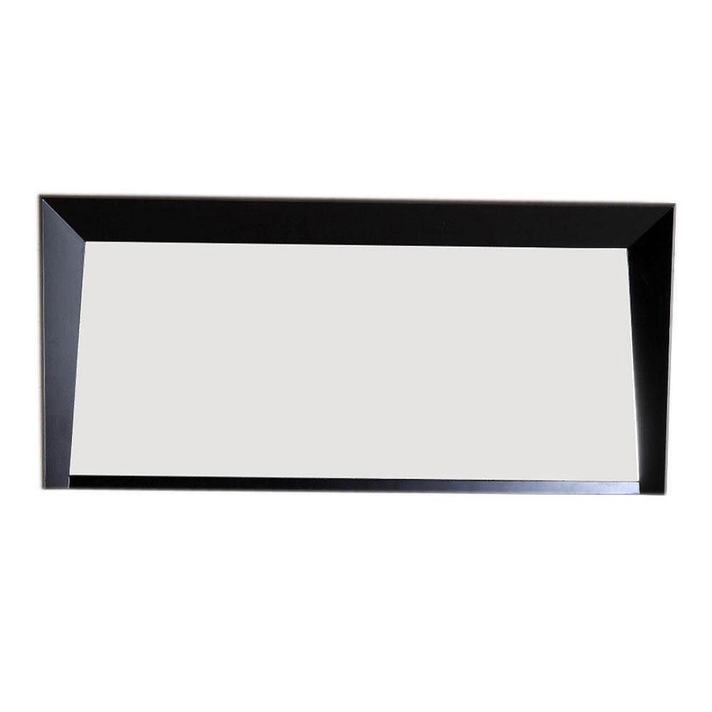 Bellaterra Colusa 56-inch W x 2.8-inch D x 26-inch H Single Framed Wall Mirror in Dark Espresso