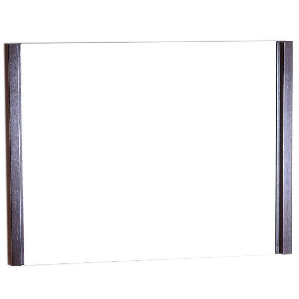 Bellaterra Fontana 36-inch W x 1.8-inch D x 26-inch H Single Framed Wall Mirror in Wenge