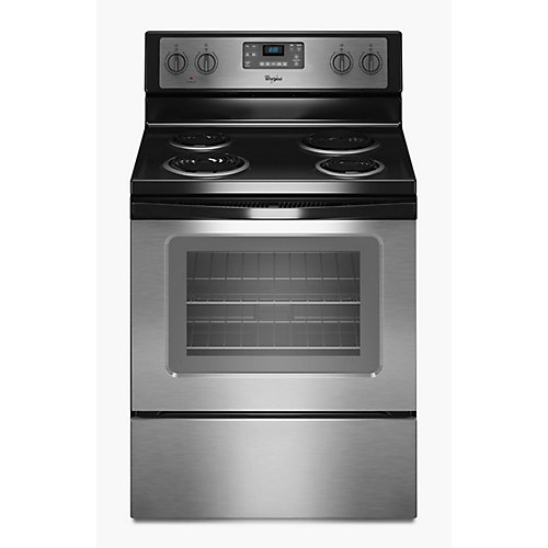 4.8 cu. ft. Electric Range with Self-Cleaning Oven in Stainless Steel