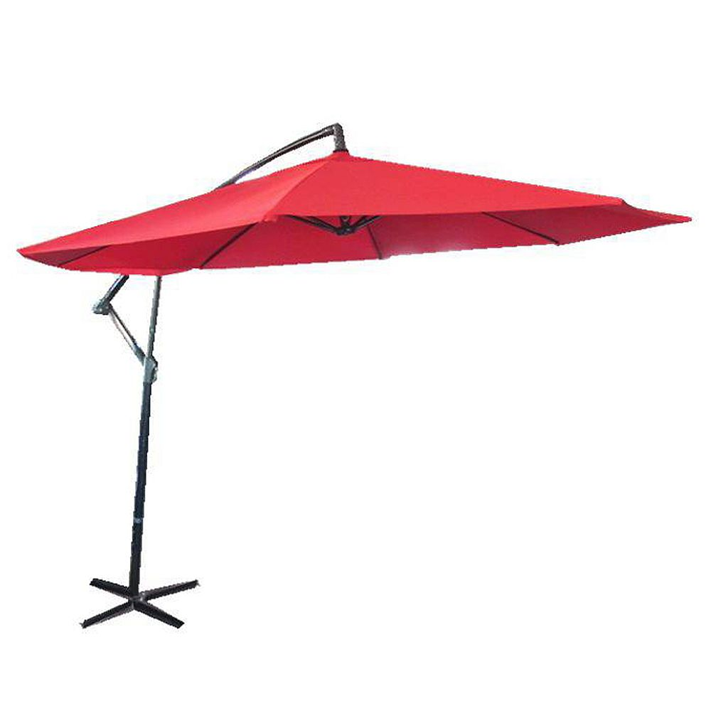 Henryka 10 ft. Cantilever Patio Umbrella in Red