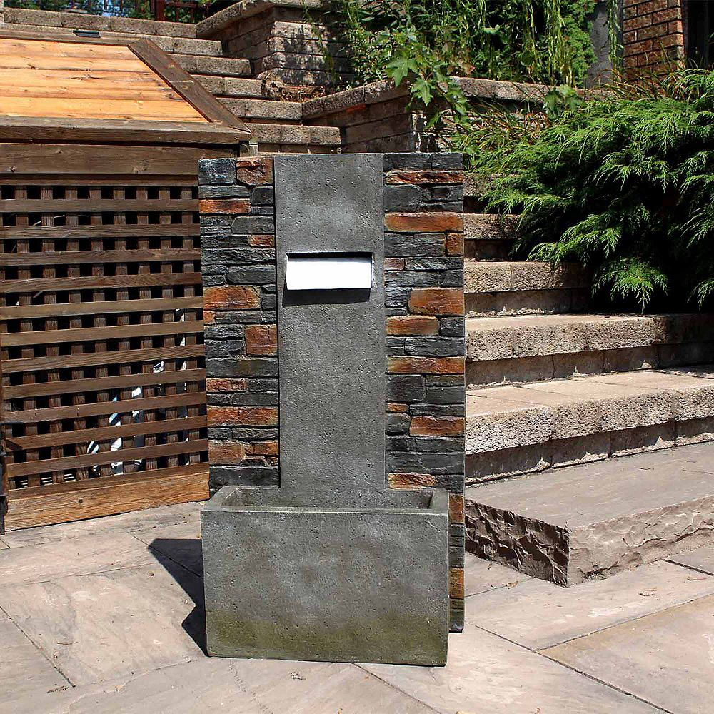 Henryka Polyresin Outdoor Fountain With LED light