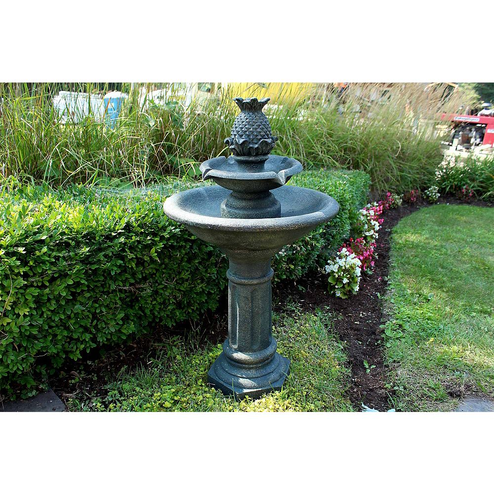 Henryka Polyresin Outdoor Fountain with LED Lights