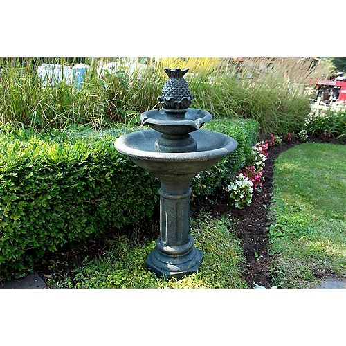 Polyresin Outdoor Fountain with LED Lights
