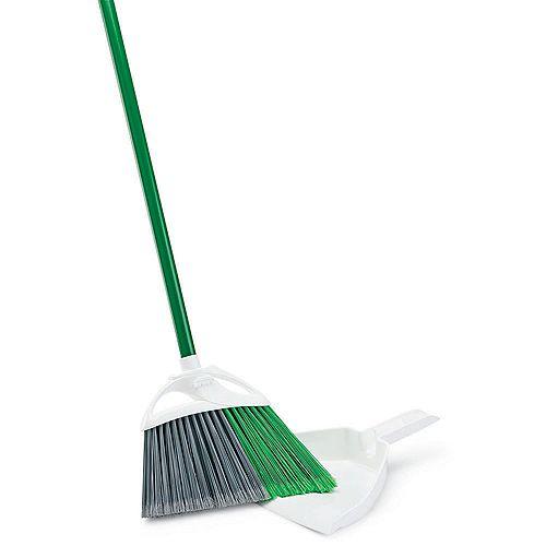Precision Angle Broom with Dustpan