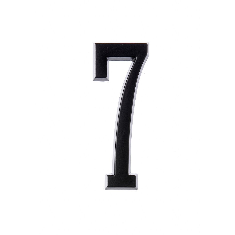 Hillman 4 Inch Stick-On Black House Number 7