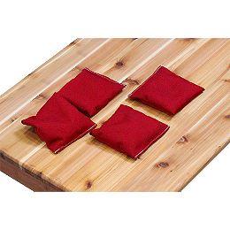 Ensemble de 4 poches, rouge