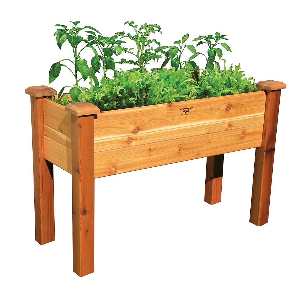 Gronomics 18-inch x 48-inch x 32-inch Elevated Garden Bed with Food Safe Finish