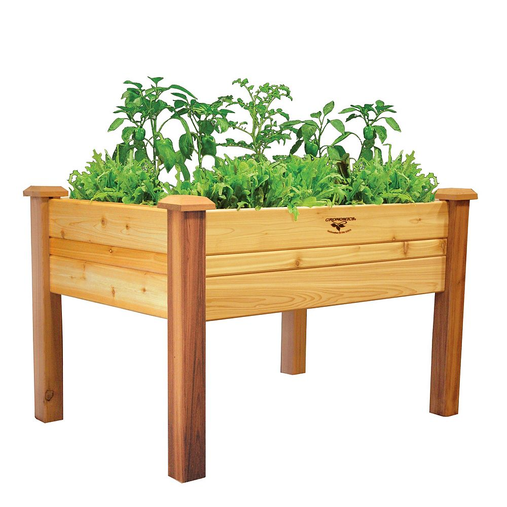 Gronomics 34-inch x 48-inch x 32-inch Elevated Garden Bed with Food Safe Finish