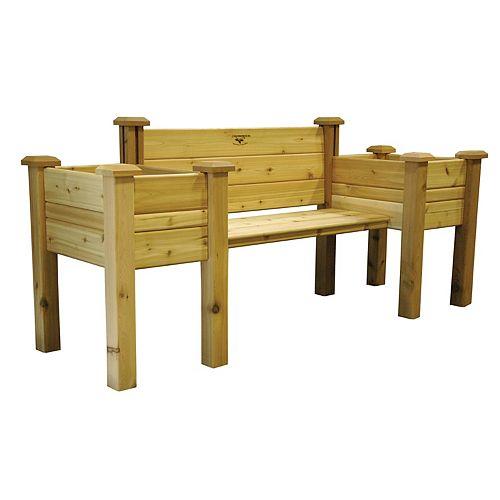 24-inch x 82-inch x 36-inch Planter Bench