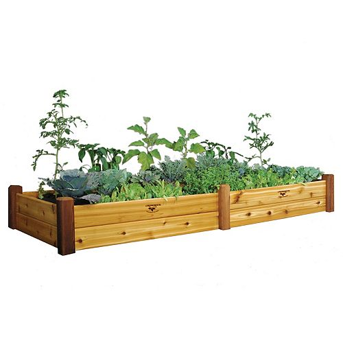 Planche de jardin au fini non toxique, 34 x 95 x 13po