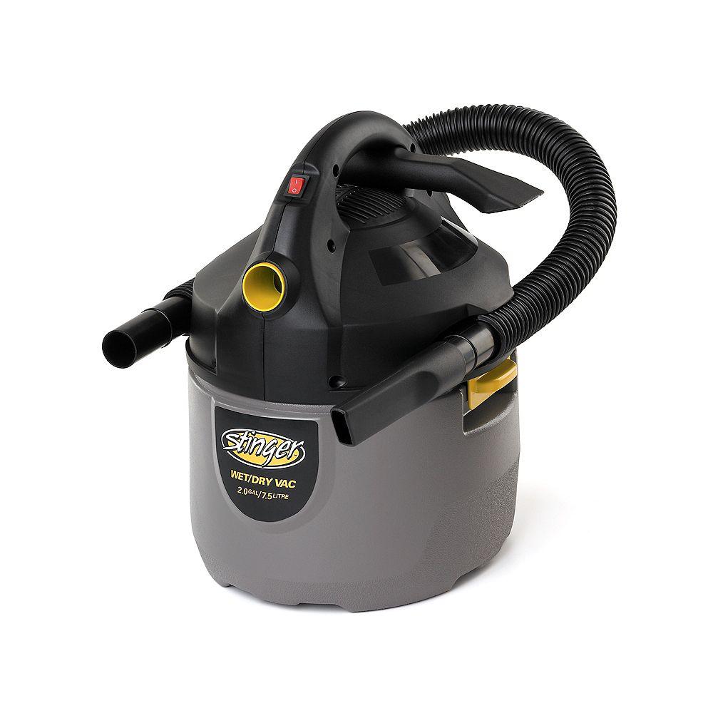 Stinger Aspirateur sec/humide portatif compact 7,5 litres (2 gal)