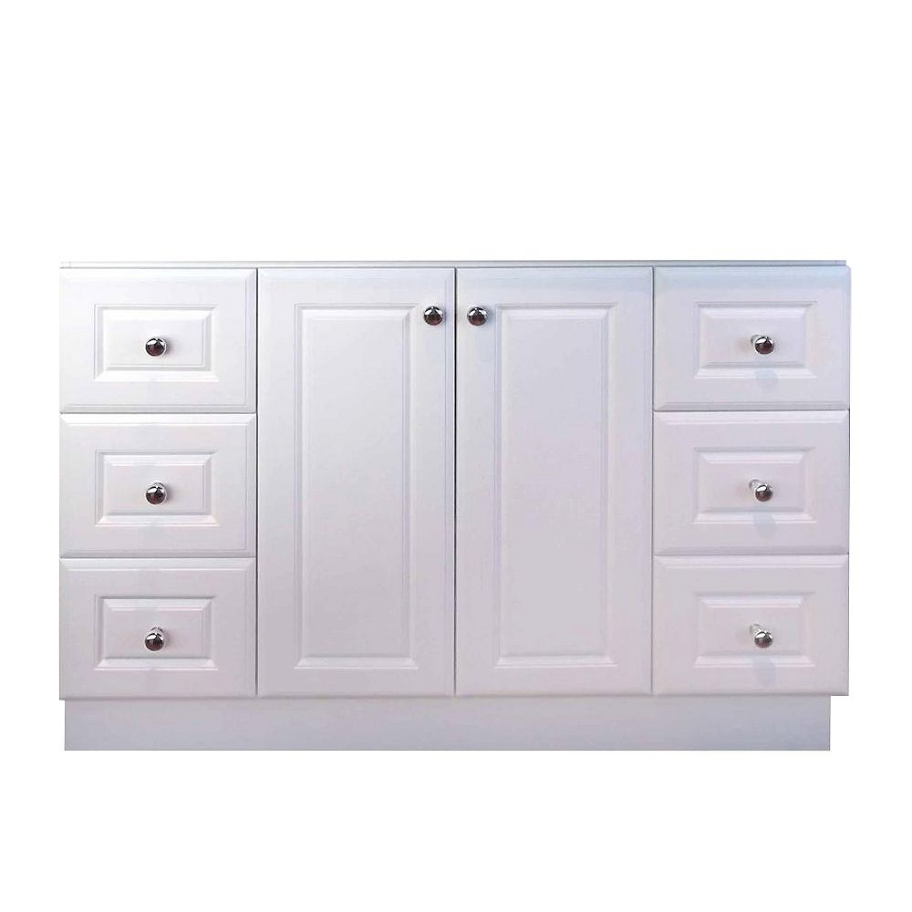 Magick Woods 48-Inch  Vanity Cabinet in Matte White
