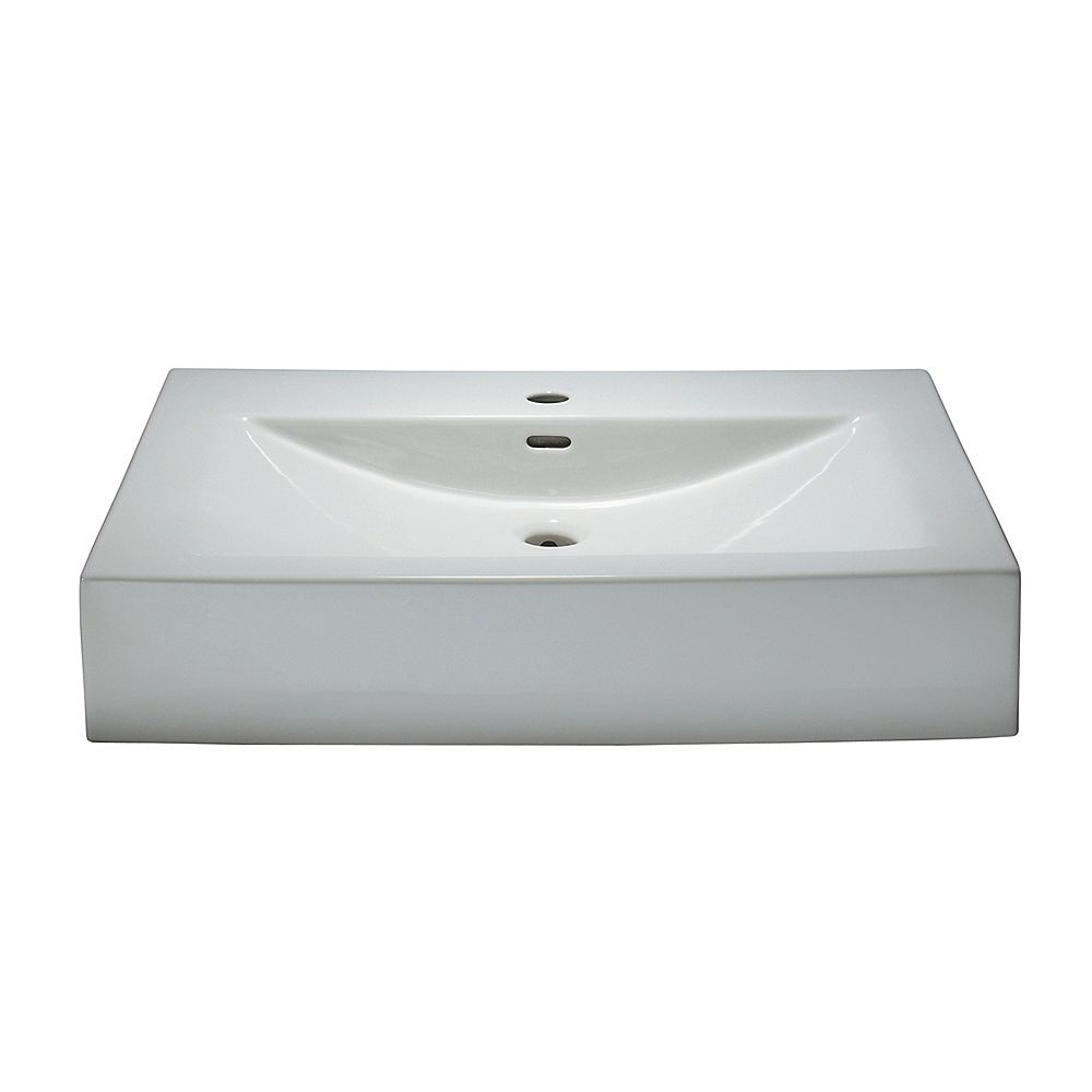 Magick Woods Sonata 32-Inch W Porcelain Vanity Top in White