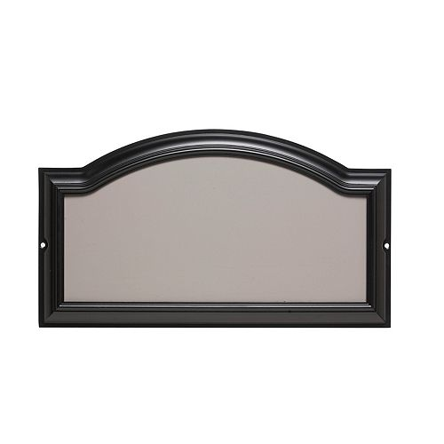 Address Plaque Black