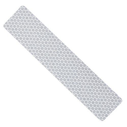 Ruban de sécurité réfléchissant blanc de 6 x 1,3 pouces - 1pc