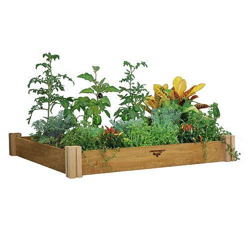 Planche de jardin modulaire, 48 x 48 x 6,5po, hauteur simple