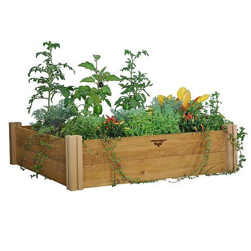 Gronomics 48-inch x 48-inch x 13-inch 2-Level Modular Raised Garden Bed
