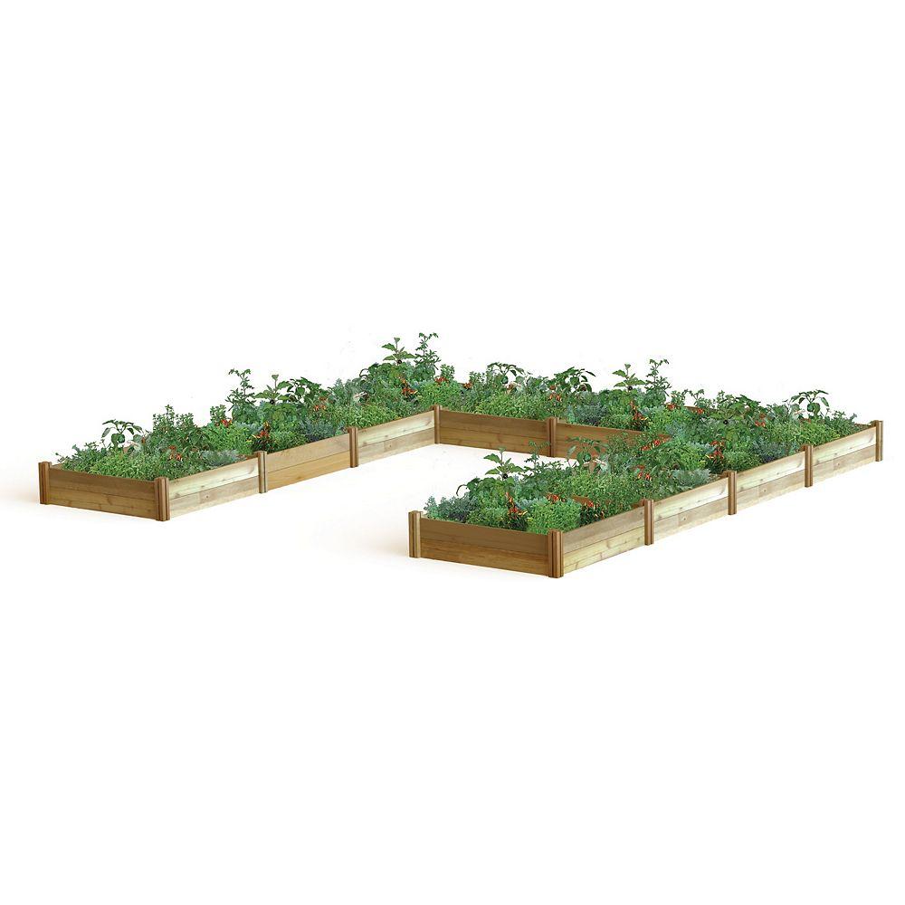 Gronomics Planche de jardin en U, 189 x 189 x 13po