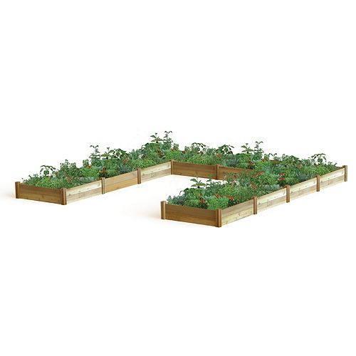Gronomics 189-inch x 189-inch x 13-inch U Shaped Harvester Raised Garden Bed