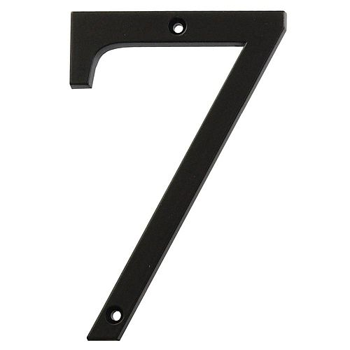 4-inch Black House Number 7 - 1pc