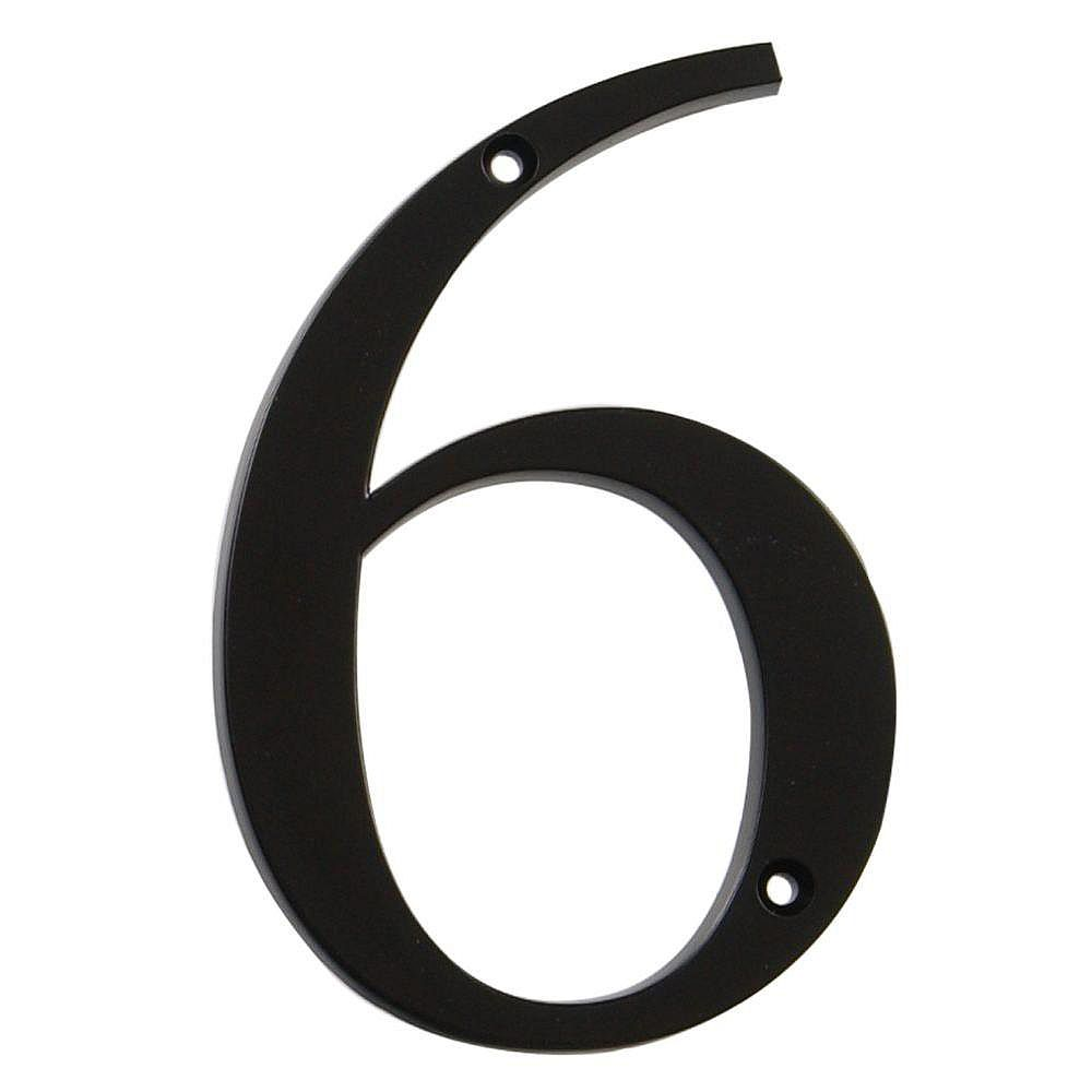 Hillman 4 Inch Black House Number 6