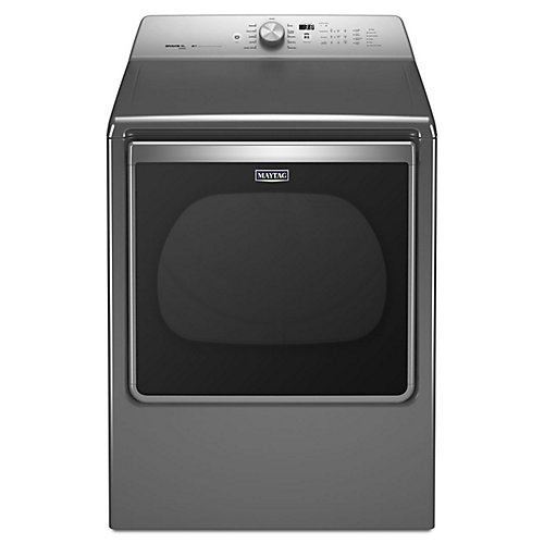 8.8 cu. ft. Extra-Large Capacity Gas Dryer with Advanced Moisture Sensing in Chrome Shadow