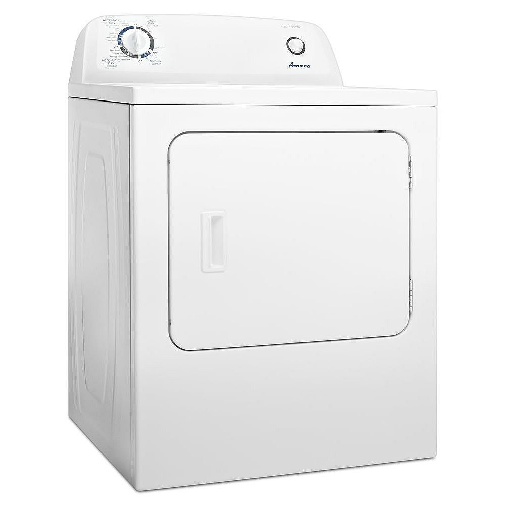 Amana 6.5 cu. ft. Front Load Electric Dryer with Automatic Dryness Control in White