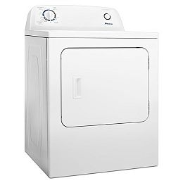 Séchoir électrique à chargement frontal de 6,5 pi3 avec contrôle automatique de la sécheresse en blanc